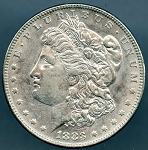 1883 Morgan Dollar AU-50