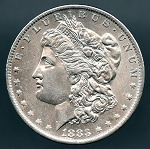 1883 O Morgan Dollar AU 55