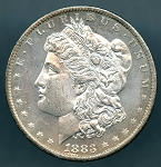 1883 O Morgan Dollar Choice B.U. MS-63 DMPL
