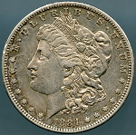 1884-S Morgan Dollar XF-45 Cleaned