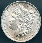 1885 Morgan Dollar MS-60
