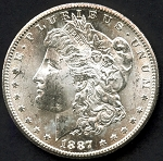 1887 S Morgan Dollar Choice MS-63