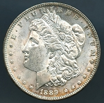 1889 Morgan Dollar Choice B.U. MS-63 PL
