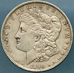 1890 Morgan Dollar VF-35
