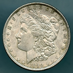 1890 Morgan Dollar XF 45