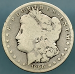 1890 CC Morgan Dollar Good