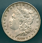 1890 S Morgan Dollar XF 45