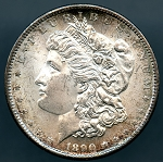 1890 S Morgan Dollar Choice B.U. MS-63