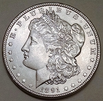 1891 Morgan Dollar MS-63