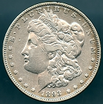 1893 Morgan Dollar VF-20 cleaned