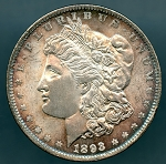 1893 Morgan Dollar Choice B.U. MS-63