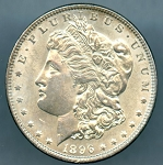 1896 Morgan Dollar MS-60+