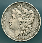 1902 Morgan Dollar Fine