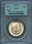 1948 Booker T. Washington Half Dollar PCGS  MS64