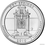 2010-D Hot Springs National Park Quarter - Arkansas MS63
