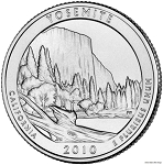 2010-D Yosemite National Park Quarter - California  MS63