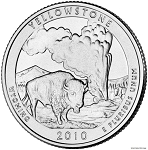 2010-D Yellowstone National Park Quarter - Wyoming MS63