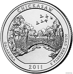2011-D Chickasaw National Recreation Area Quarter - Oklahoma MS63