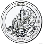 2012-P Acadia National Park Quarter - Maine  MS63