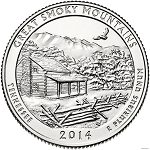2014-P Great Smoky Mountains National Park Quarter - Tennessee MS63