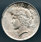 1923 Peace Dollar AU 50 plus