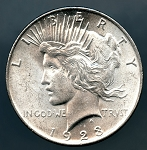 1923 Peace Dollar MS 60