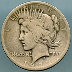 1921 Peace Dollar Good