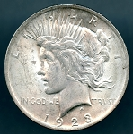 1923 Peace Dollar B.U. MS-60