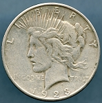 1923 S Peace Dollar VF-35