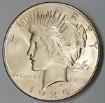 1925 Peace Dollar Choice MS-66