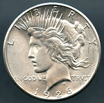 1926 Peace Dollar Choice B.U. MS-64