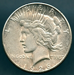 1926 S Peace Dollar Choice XF-40