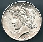 1926 S Peace Dollar Choice B.U. MS-63