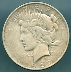 1927 D Peace Dollar Very Good