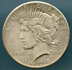 1928 Peace Dollar XF-40