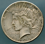 1928 Peace Dollar Choice XF-45