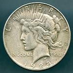 1928 S Peace Dollar VF-20