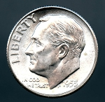 1953 S Roosevelt Dime MS 63  plus