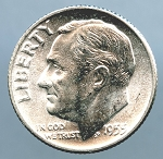 1955 Roosevelt Dime Choice B.U. MS-63