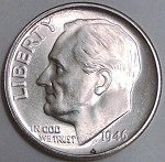 1946 S Roosevelt Dime MS-63