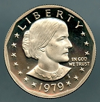 1979 S TY 2 Susan B. Anthony Dollar PF 60