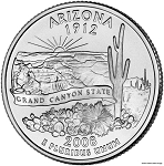 2008 D Arizona Statehood Quarter D Mint MS-63