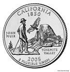 2005 P California Statehood Quarter P Mint MS-63