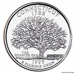 1999 D Connecticut Statehood Quarter D Mint MS-63