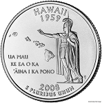 2008 D Hawaii Statehood Quarter D Mint MS-63
