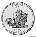 2005 P Kansas Statehood Quarter P Mint MS-63