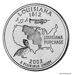 2002 D Louisiana Statehood Quarter D Mint MS-63