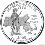2000 D Massachusetts Statehood Quarter D Mint MS-63