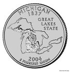 2004 D Michigan Statehood Quarter D Mint MS-63