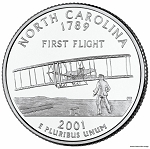 2001 D North Carolina Statehood Quarter D Mint MS-63